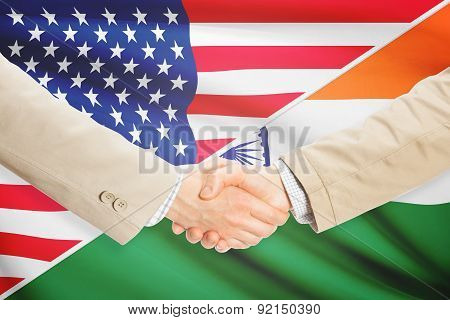Businessmen Handshake - United States And India