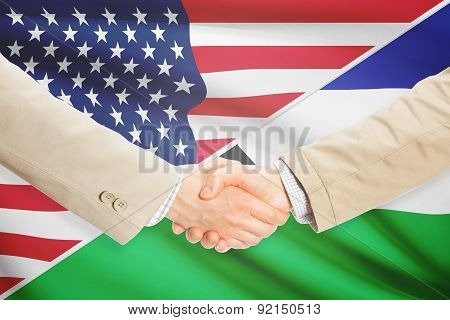 Businessmen Handshake - United States And Lesotho