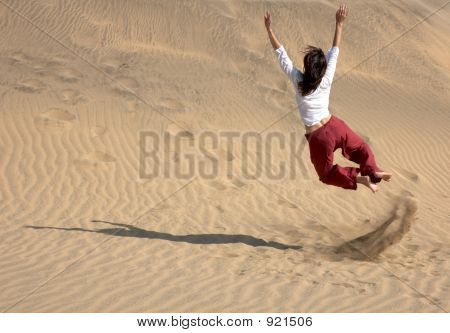 Chaplin Jumping In The Dunes