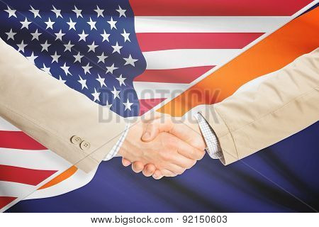 Businessmen Handshake - United States And Marshall Islands
