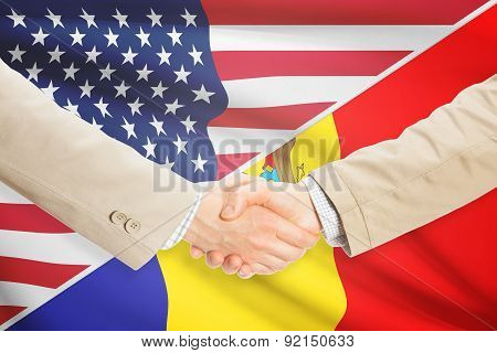 Businessmen Handshake - United States And Moldova