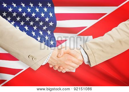 Businessmen Handshake - United States And Switzerland