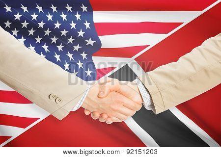 Businessmen Handshake - United States And Trinidad And Tobago