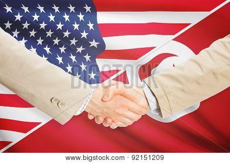 Businessmen Handshake - United States And Tunisia