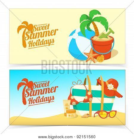 Sea shore and beach accessories.
