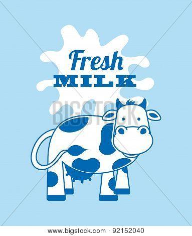 milk design over blue background vector illustration