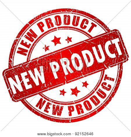 New product vector stamp