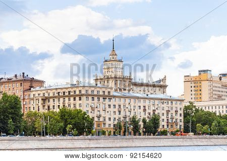 Houses On Frunzenskaya Embankment In Moscow