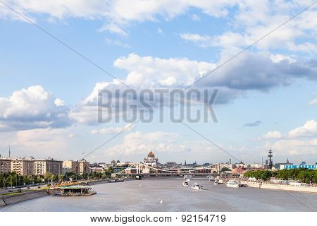 View Of Moscow City With Crimean Bridge, Russia