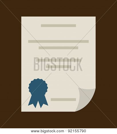 graduation design over brown background vector illustration