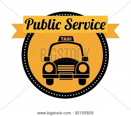 public service over white background vector illustration