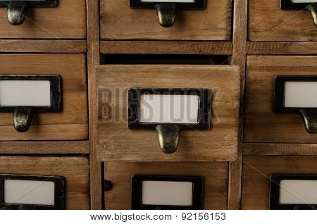 Opened Card Index Drawer