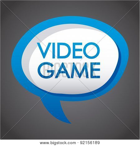 video game design over gray background vector illustration