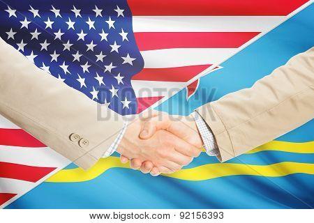 Businessmen Handshake - United States And Aruba