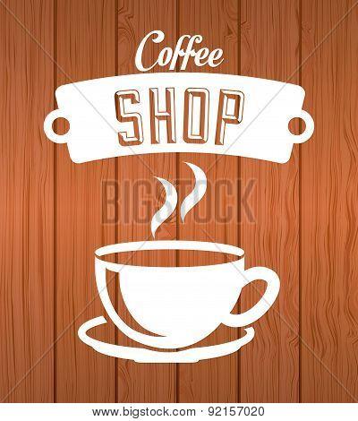 coffee design over wooden  background vector illustration