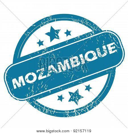MOZAMBIQUE round stamp