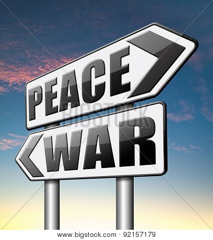 war peace love no conflict or terrorism