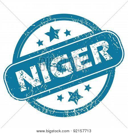 NIGER round stamp