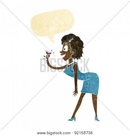 cartoon drunk woman