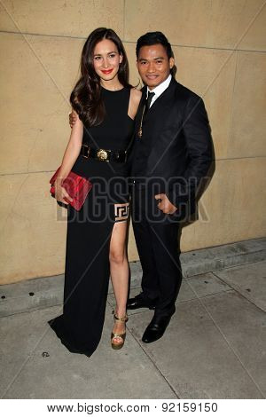 LOS ANGELES - MAY 6:  Celina Jade, Tony Jaa at the