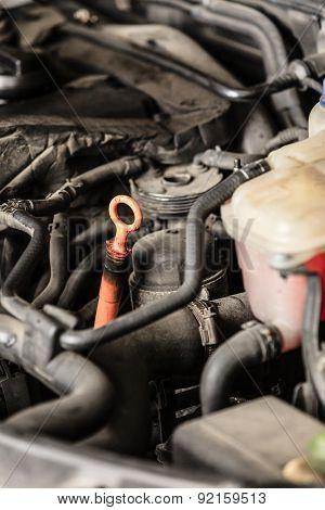 Closeup Motor Block Automobile Engine