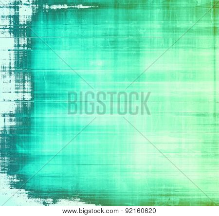 Aging grunge texture designed as abstract old background. With different color patterns: gray; green; blue; cyan