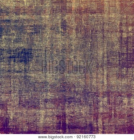 Vintage texture with space for text or image, grunge background. With different color patterns: brown; gray; blue; purple (violet)