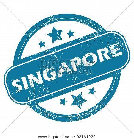 SINGAPORE round stamp