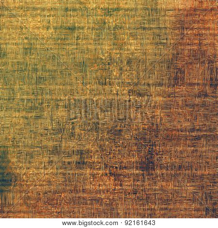 Old grunge background with delicate abstract texture and different color patterns: yellow (beige); brown; gray; green