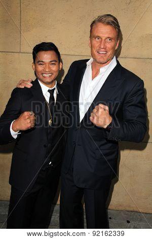 LOS ANGELES - MAY 6:  Tony Jaa, Dolph Lundgren at the