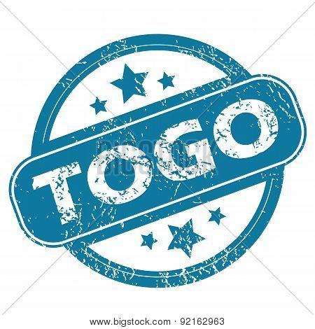 TOGO round stamp
