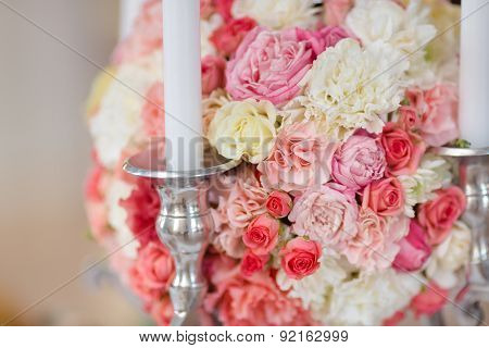 Wedding Flowers Decoration whit candles