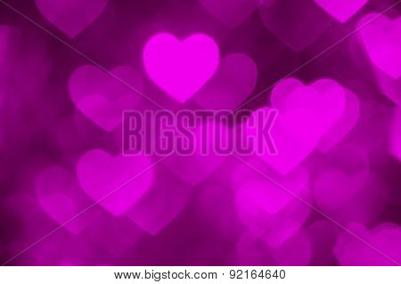 pink heart shape holiday photo as background