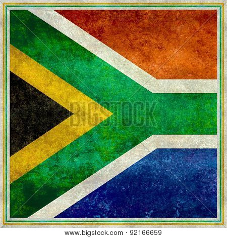 Flag of South Africa, Square vintage retro style version