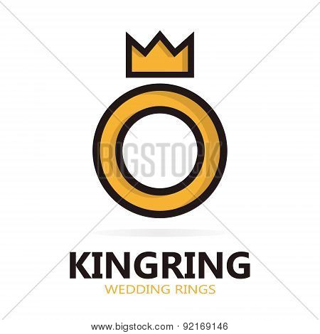 Royal ring logo or icon