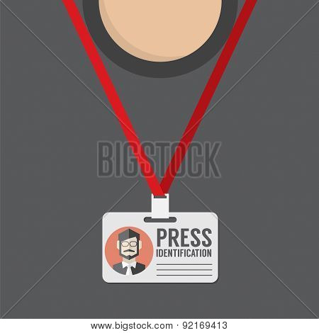 Flat Design Press Identification.