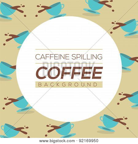 Coffee Spilling Background.