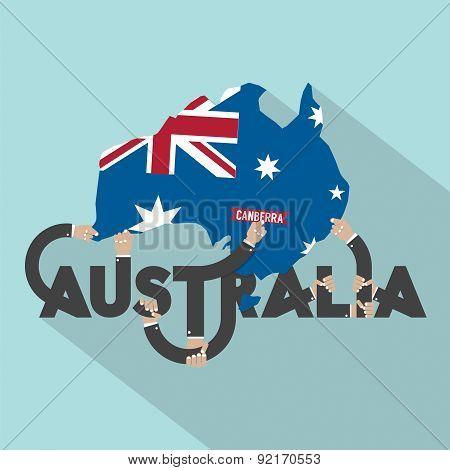 Australia Typography Design.