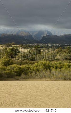 Stormy Desert