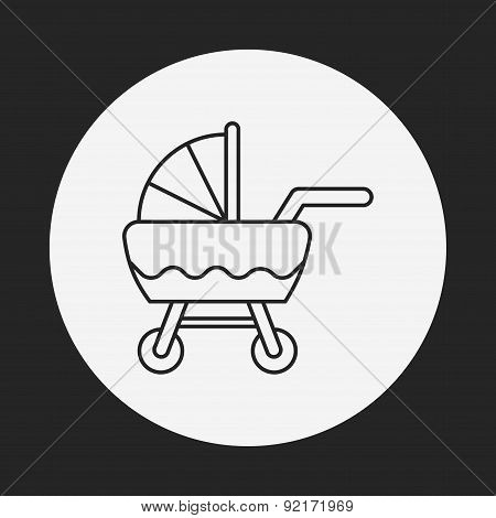 Baby Carriages Line Icon