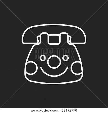 Baby Toy Phone Line Icon
