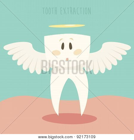 Tooth Extraction, Healthy White Teeth Vector