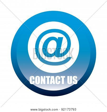 contact us design over white background vector illustration
