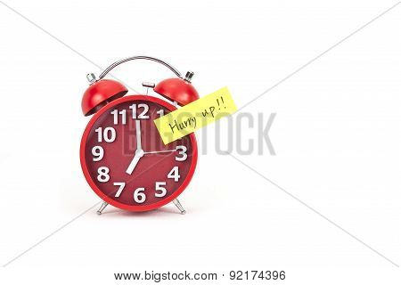 Alarm Clock With A Note