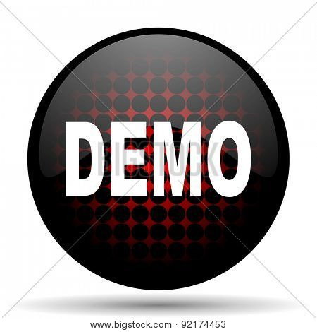 demo red glossy web icon