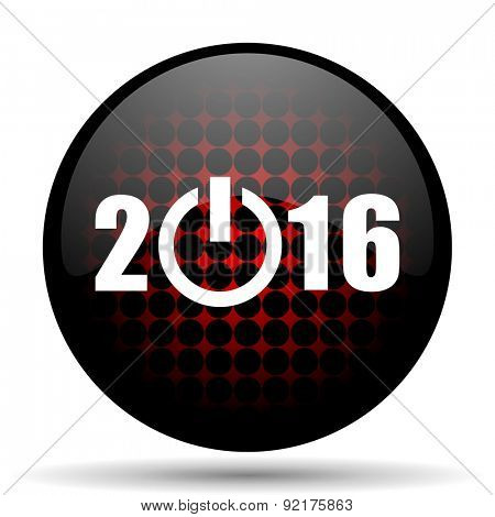 new year 2016 red icon new years symbol