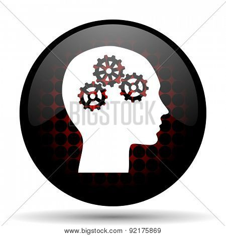 head red glossy web icon