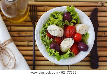 Fresh Salad Of Heart Of Palm (palmito)