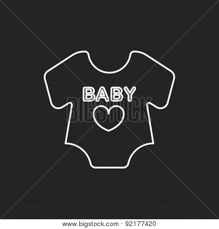 Baby Clothes Line Icon