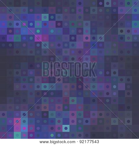 Colorful Mosaic Background With Squares And Circles